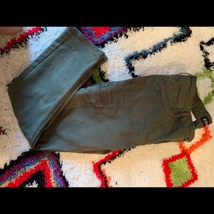 Express Olive Green Cargo Pants